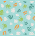 exotic tropical leaves seamless pattern vector image vector image