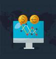 financial stock market vector image vector image