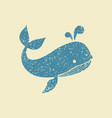 flat icon a whale vector image