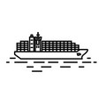 flat linear container ship vector image