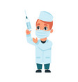 funny kid doctor hospital workers cartoon man in vector image vector image