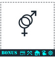 gender icon flat vector image vector image