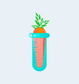 genetic engineering gmo carrot in test tube vector image vector image