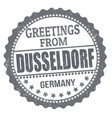 greetings from dusseldorf sign or stamp vector image vector image