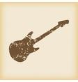 Grungy guitar icon vector image
