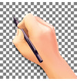 hand close-up gesture vector image vector image