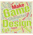 how to design a game system text background vector image vector image
