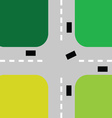 intersection with cars color vector image vector image