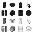 isolated object of cctv and camera icon set of vector image