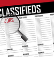 Job classifieds search vector image