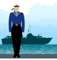 Military Uniform Navy sailor-1 vector image vector image