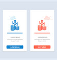 money transfer fund analysis blue and red vector image vector image