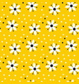 naive simple yellow geometric flower pattern vector image