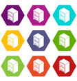 office chest of drawers icons set 9 vector image vector image