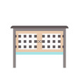 rabbit hutch in flat design vector image