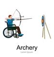 rio 2016 brazilian archery game for handicapped vector image