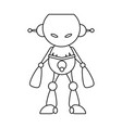 robot toy cartoon vector image
