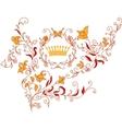 Rococo style ornament vector image vector image