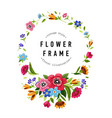 round flower frame template for invitation card vector image