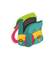 school backpack isolated vector image vector image