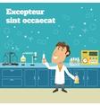 Scientist in lab vector image vector image