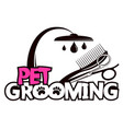 scissors and comb for grooming pets vector image vector image