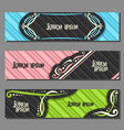 set colorful horizontal banners vector image