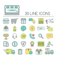 Set of e-commerce line icons Color modern line vector image vector image