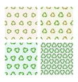 Set of four Seamless flat recycle vector image vector image