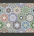 set of hexagonal patterns vector image