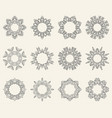 set of ornate mandala symbols vector image vector image