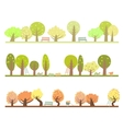 Set of three seasons in the garden vector image