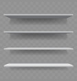 shelf white wood empty 3d bookshelf vector image vector image