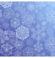 Snowy flow vector image vector image
