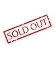 sold out rubber stamp vector image vector image