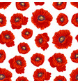 spring poppy flower seamless pattern background vector image