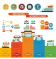 Store Building Infographics vector image vector image