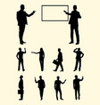 teacher businessperson presentation silhouette vector image vector image