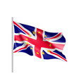 united kingdom national flag with a star circle of vector image vector image