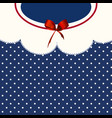 vintage blue polka-dot dress printable backround vector image