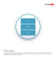 wardrobe furniture icon - white circle button vector image