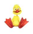 Watercolor cartoon duckling vector image vector image