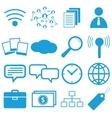 Webdesign flat symbols vector image