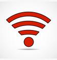 wifi sign wireless network icon wifi zone vector image vector image