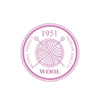 Wool Pink Product Logo Design vector image vector image