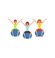 young girls doing exercise while sitting on vector image vector image