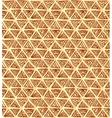 Ornate hand-drawn vintage beige triangles vector image