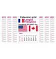 american calendar standard us french gaulish vector image vector image