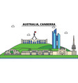 australia canberra city skyline architecture vector image vector image