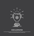 award trophy prize win cup icon line symbol for vector image vector image